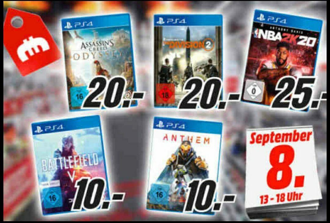 PS4 - Anthem - Battlefield 5 je 10€/ The Division 2 - Assassin's Creed Odyssey je 20€ / NBA 2K20 25€ (MEDIAMARKT BERLIN-TEGEL)