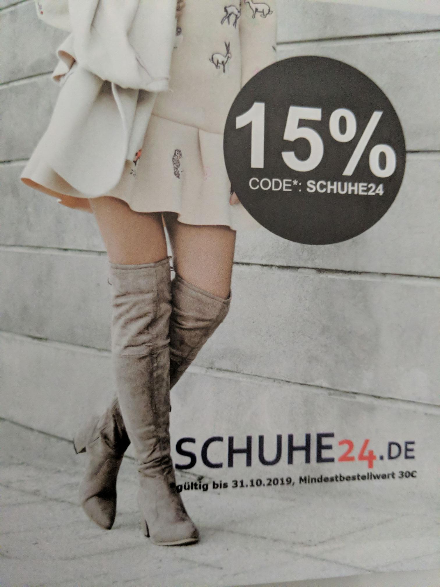 15% Schuhe24 Gutschein (MBW: 30€)