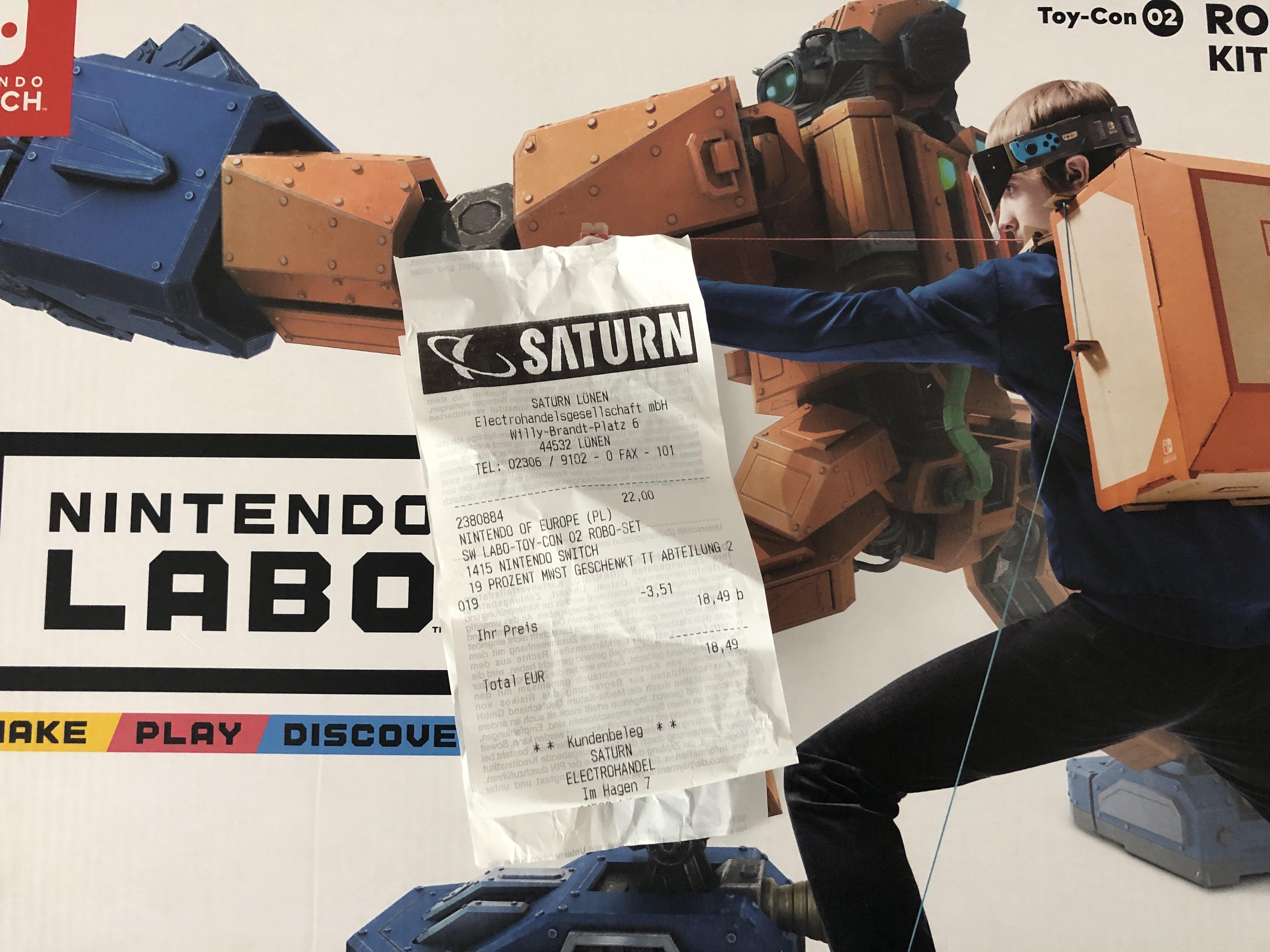 (Lokal Saturn Lünen) Nintendo Labo Toy Con 2 - Robot Kit