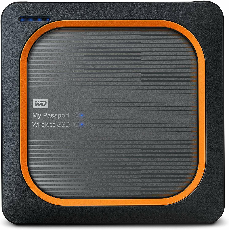 WD My Passport Wireless ext. SSD, 250GB, SD-Karten-Backup auf Knopfdruck, WLAN, 4K Streaming, mit Akku // 500GB (aus DE) ~219€ statt 249€