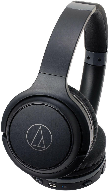 Audio-Technica ATH-S200BT-BK, On-ear Kopfhörer, Headsetfunktion, Bluetooth, Schwarz