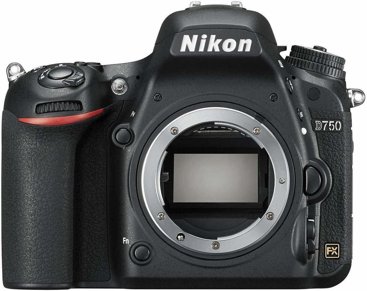 Nikon D750 SLR Spiegelreflexcamera Body, 24,3 megapixel, 8,1 cm (3,2 inch) Display, HDMI, USB 2.0