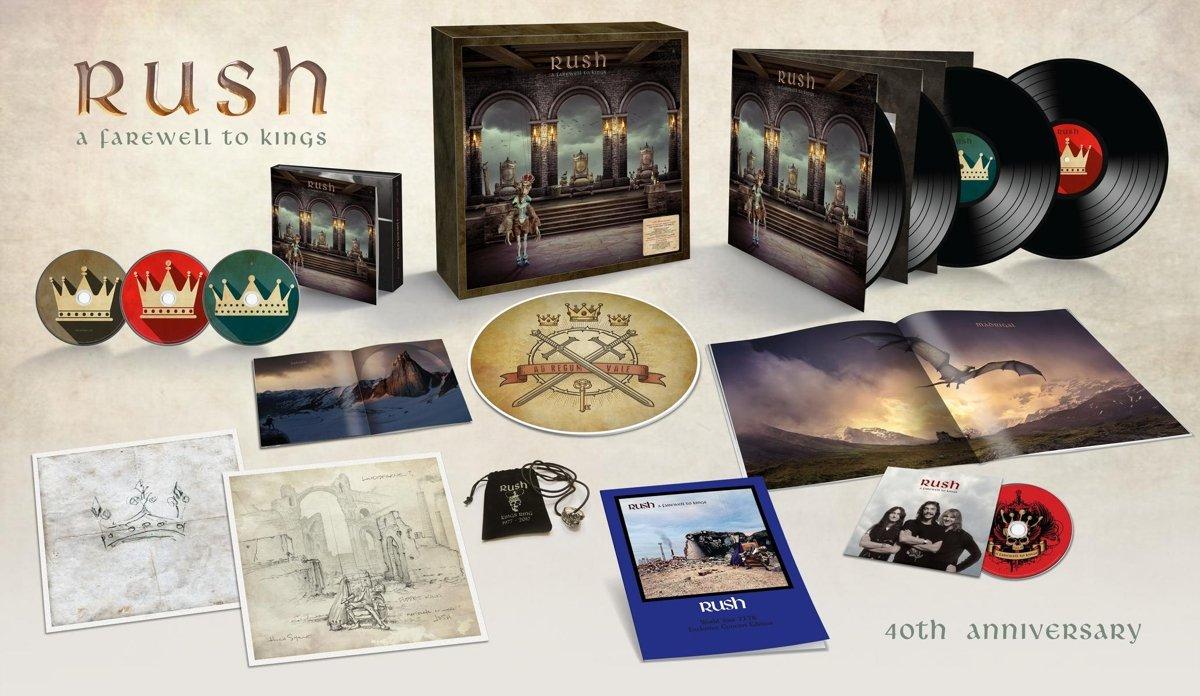 [Amazon] Rush  A Farewell to Kings Limited Super Deluxe Edition mit 3 CDs, 4 Vinyl, 1 BluRay + vielen speziellen Zugaben