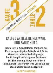TOM TAILOR: kauf 3, zahl 2 & 15% Cashback on top