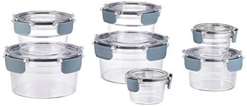 AmazonBasics - Tritan-Frischhaltedose mit Verschluss, 14er-Packung für 9,59€ & 22er für 20,24€ [Amazon Prime]