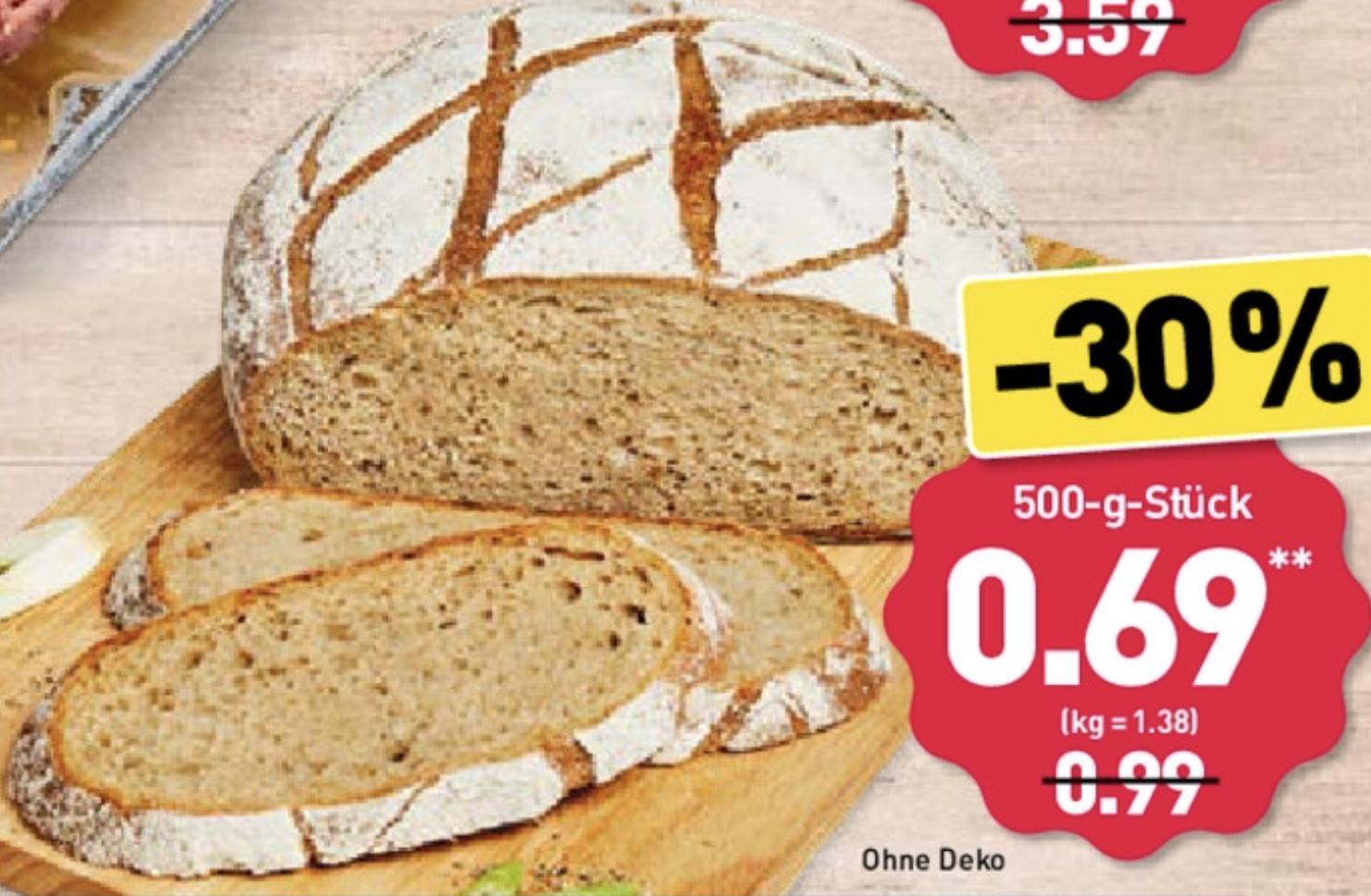 ALDI Nord Frischback: Bauernvesper Weizenmischbrot 500g. für nur 0,69€! - ab 16.09.