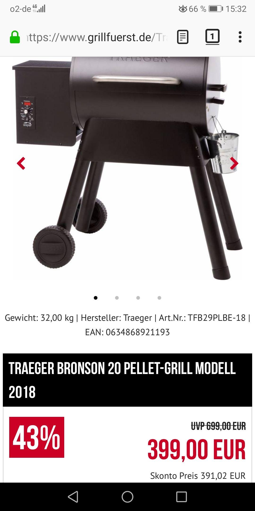 Traeger Bronson 20 Pelletgrill 2018