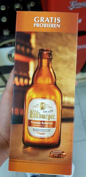 Gratis keller bier Bitburger - Real im RPC in Neuss [Lokal]