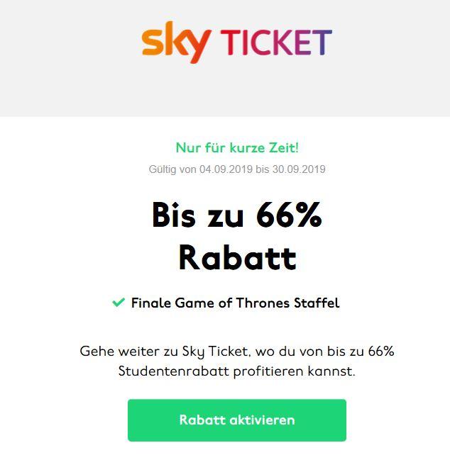 Sky Ticket Entertainment für 4,99 und Supersport Ticket für 9,99 (für Studenten)