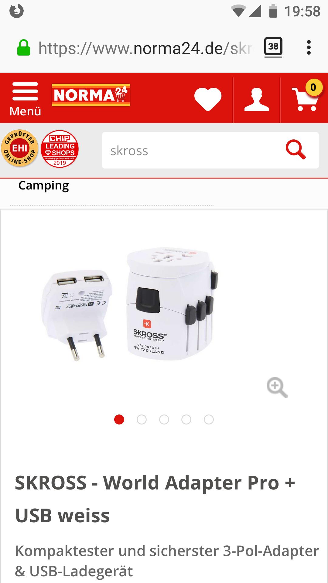 online bei Norma24 - SKROSS - Worldwide Adapter Pro + USB