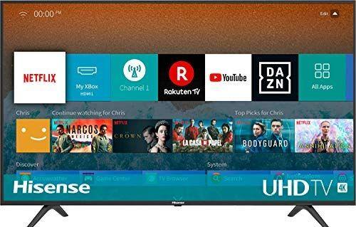 Hisense H50BE7000 126 cm (50 Zoll) Fernseher (4K Ultra HD, HDR, Triple Tuner, Smart-TV) [Amazon]