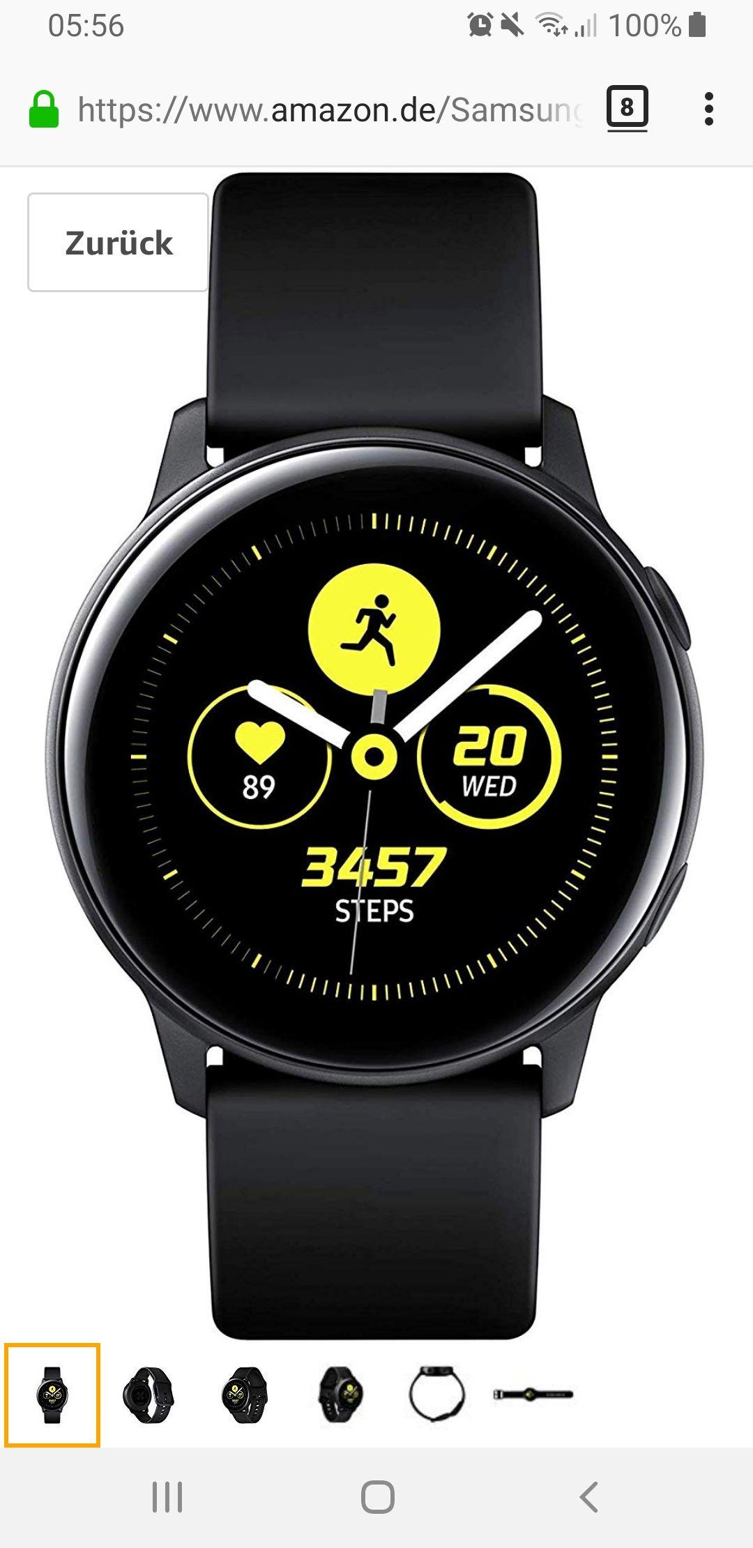 Samsung Galaxy Watch Active jetzt bei Amazon
