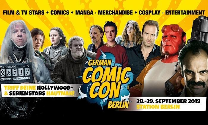 Early-Bird-Tagesticket für die German Comic Con am 29.09. (Sonntag, 9-17 Uhr) in der STATION Berlin