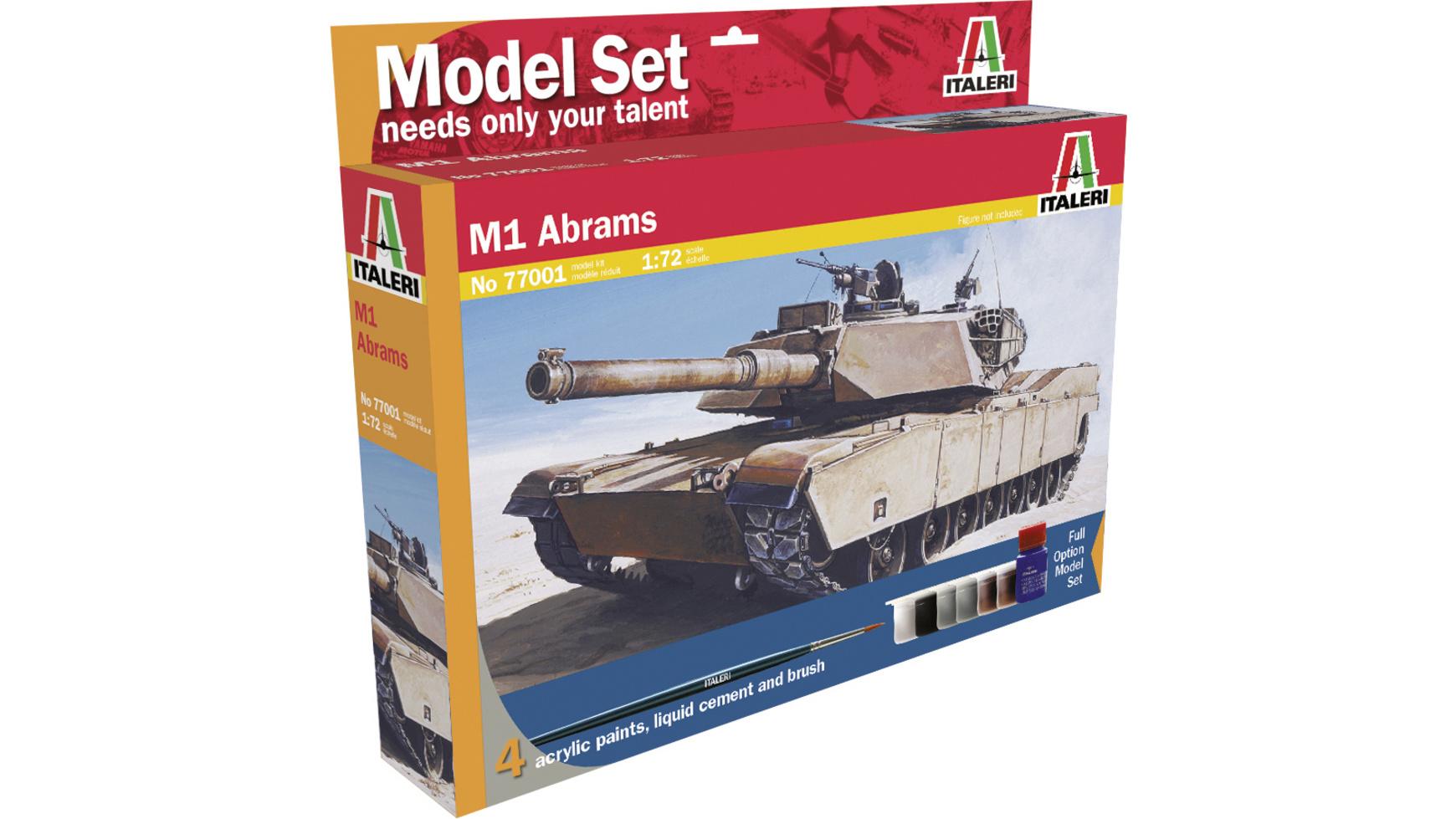 [Müller] Italeri 77001 M1 Abrams 1:72 Modellbausatz