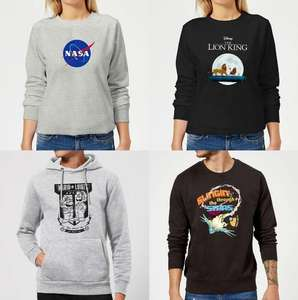 Hoodies (20,99€) & Sweatshirts (18,99€) von Nasa, Star Wars, Nintendo, Marvel uvw.