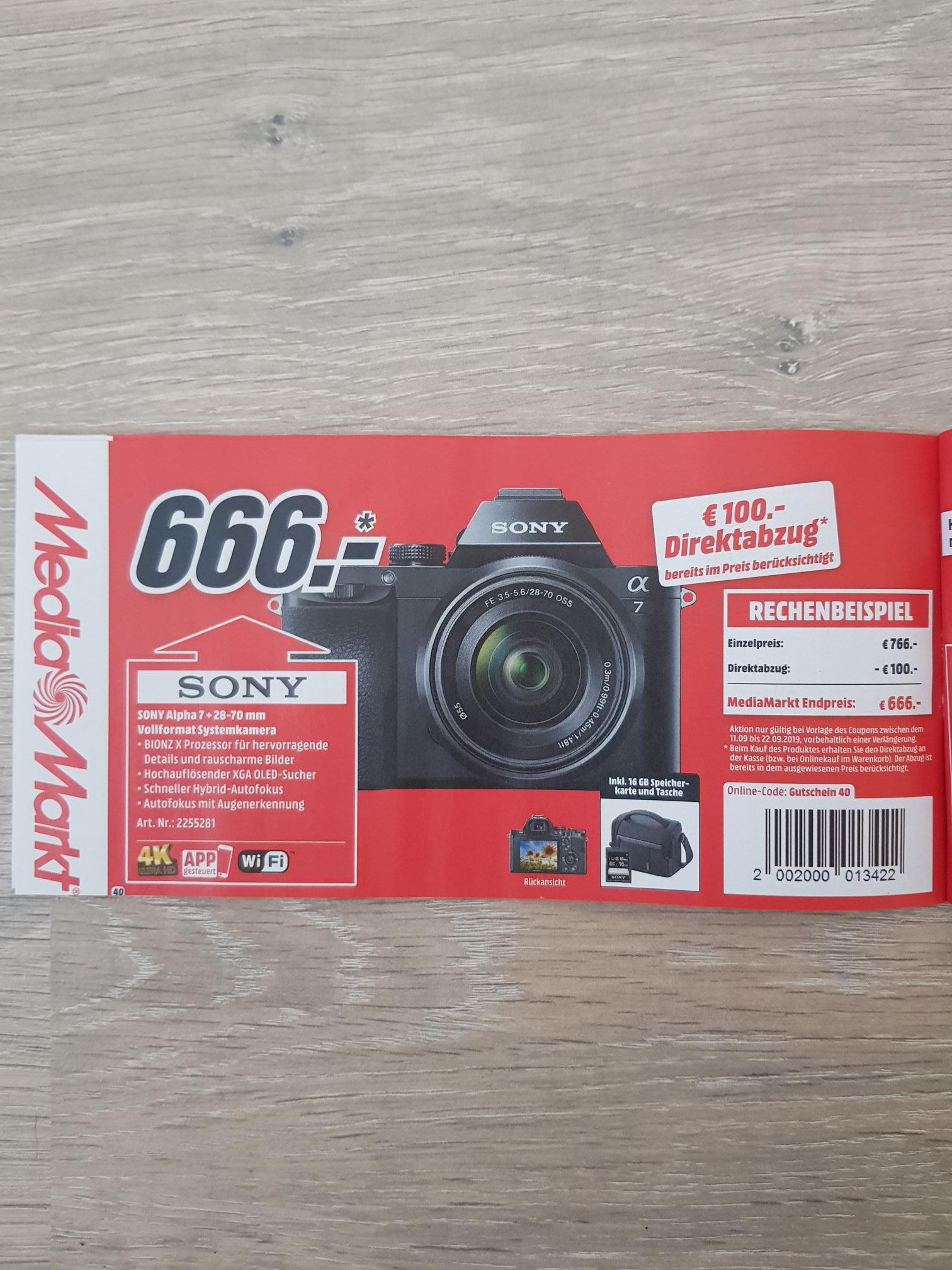 Mediamarkt Sd Karte.Media Markt Sony Alpha 7 Kb Mit Tasche Sd Karte