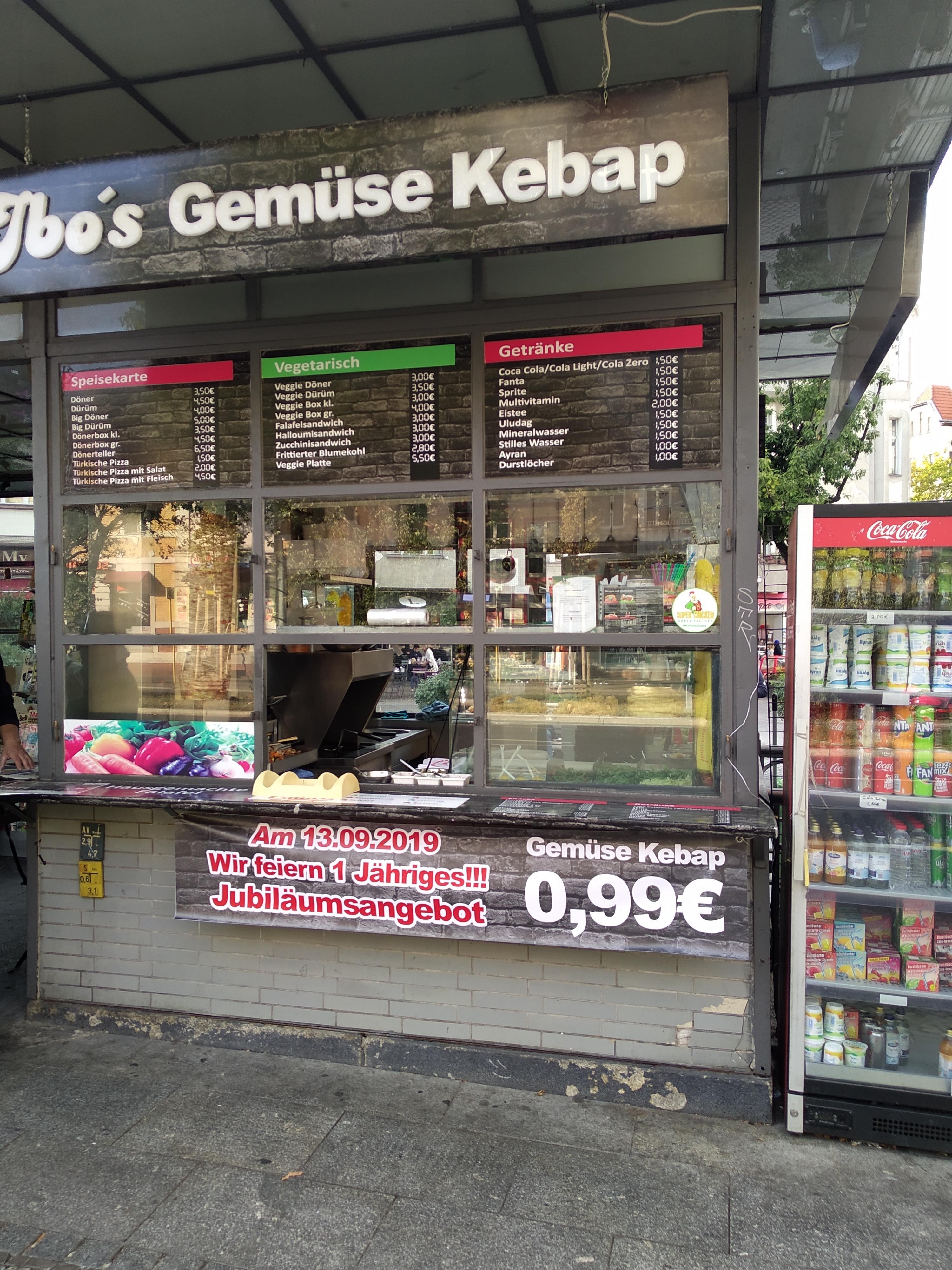 Döner in Berlin / Schöneberg / Friedenau für 99 Cent, nur am 13.9.