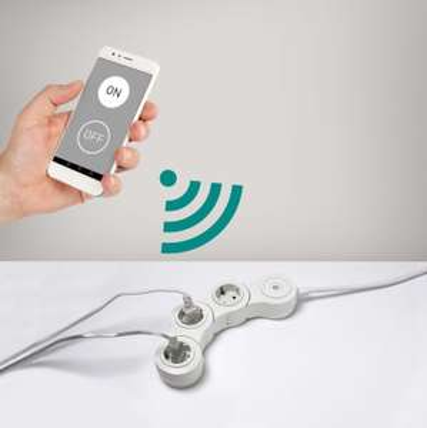 WLAN Steckdosenleiste 3-fach, flexibel, Flachstecker, Alexa/Google Home-kompatibel