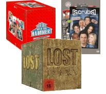 Mediamarkt.de Scrubs + Lost + Hör mal wer da hämmert komplette Serien für zusammen 58€