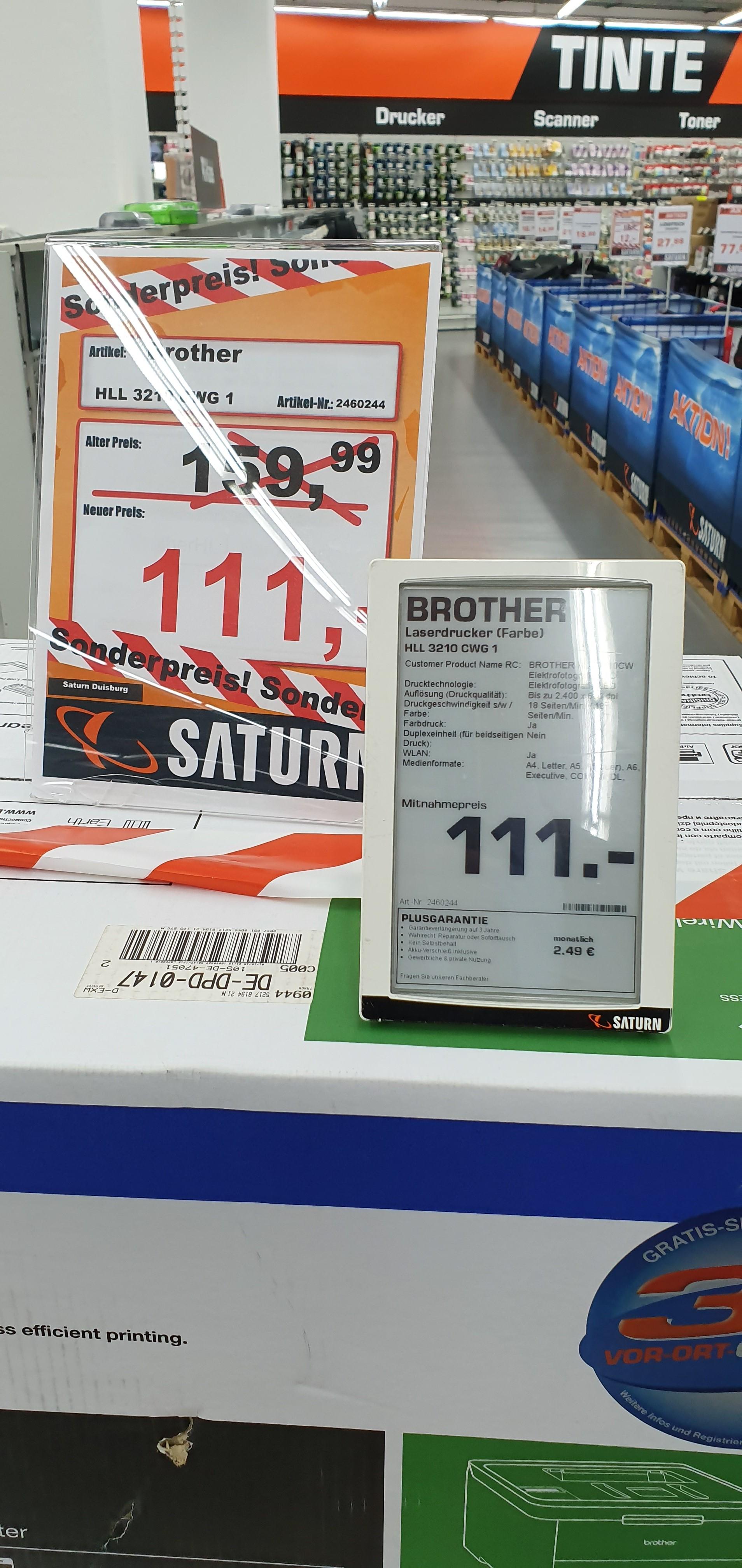 [SATURN / Duisburg] Brother HL-L3210CW Farblaserdrucker für 111€  (lokal?)