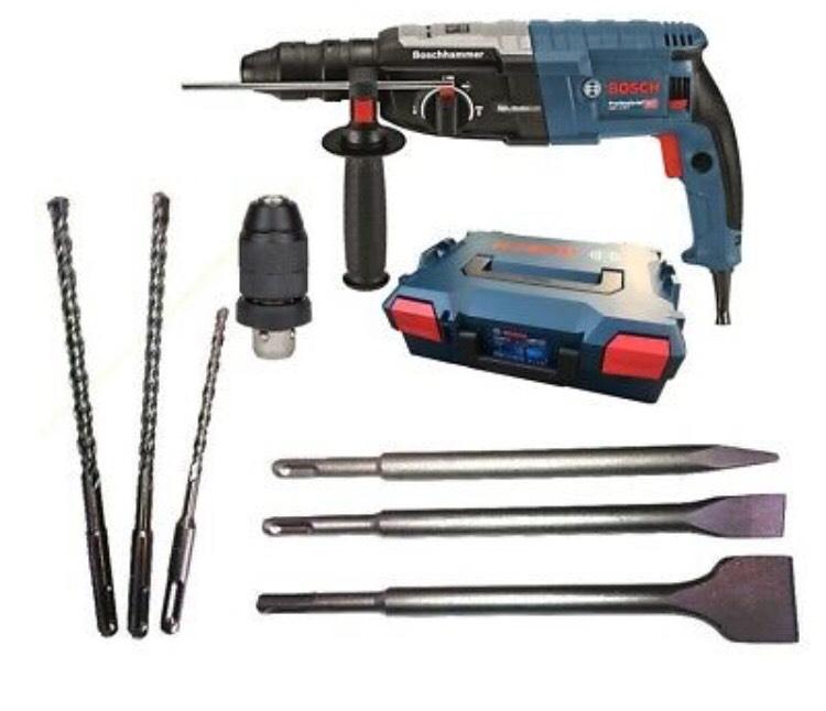 Bosch Bohrhammer GBH 2-28 F in L-BOXX +3 Bohrer +3 Meißel