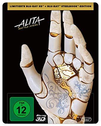 Alita: Battle Angel (Steelbook) (2 Disks) [3D Blu-ray (+2D)]