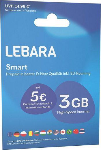 Otto Up/Lebara Prepaid 3gb+5€/1,5gb+200min für 2,11€ + 5,95€ Vsk