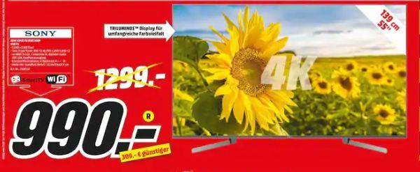 [Regional Mediamarkt Schwedt] Sony KD-55XG9505BAEP HDR 4K LED Android TV, TRILUMINOS, X1 Ultimate X-tended Dynamic Range PRO für 990,-€