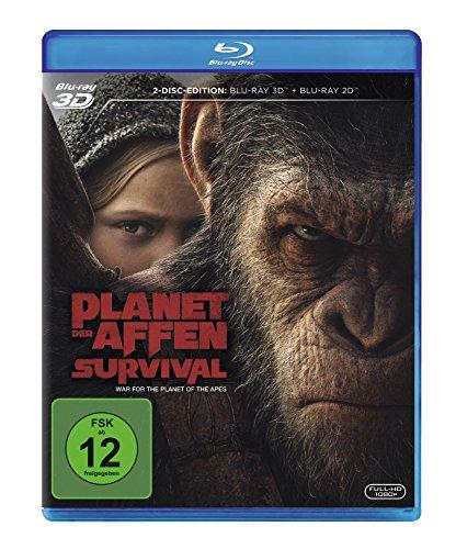 Planet der Affen: Survival 3D (3D Blu-ray + Blu-ray) für 9,97€ (Amazon Prime & Dodax)