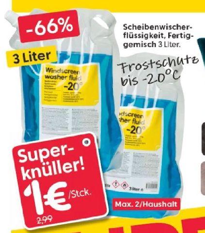 [Regional RUSTA in Lübeck und Schwentinental] Frostschutzkonzentrat für bis zu -20 Grad im 3 Liter Beutel für nur 1,-€
