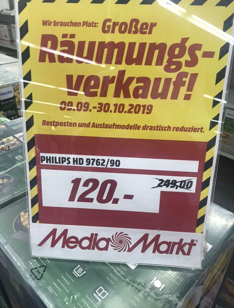 [Lokal Media Markt Weiterstadt] Philips HD9762/90 Airfryer XXL Heißluftfritteuse schwarz (2225 W, für 4-5 Personen, 1400g, dig. Display)