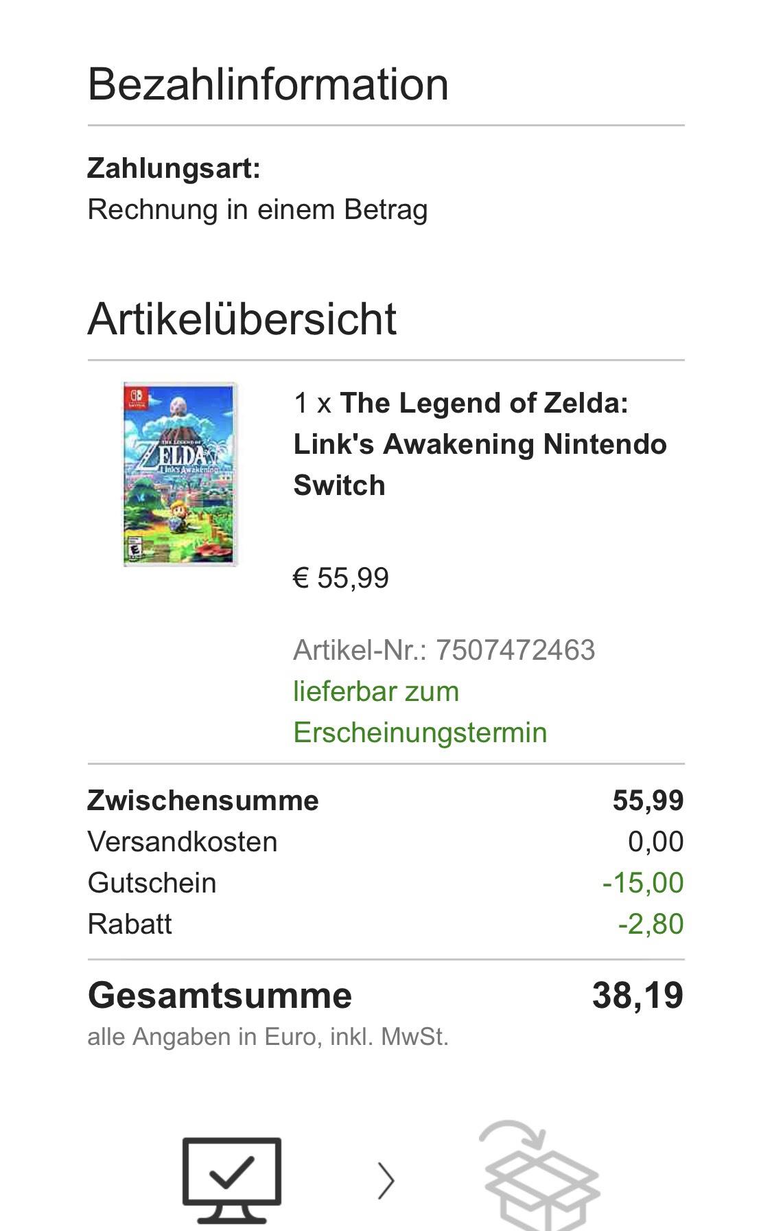 Zelda - Links Awakening für die Switch