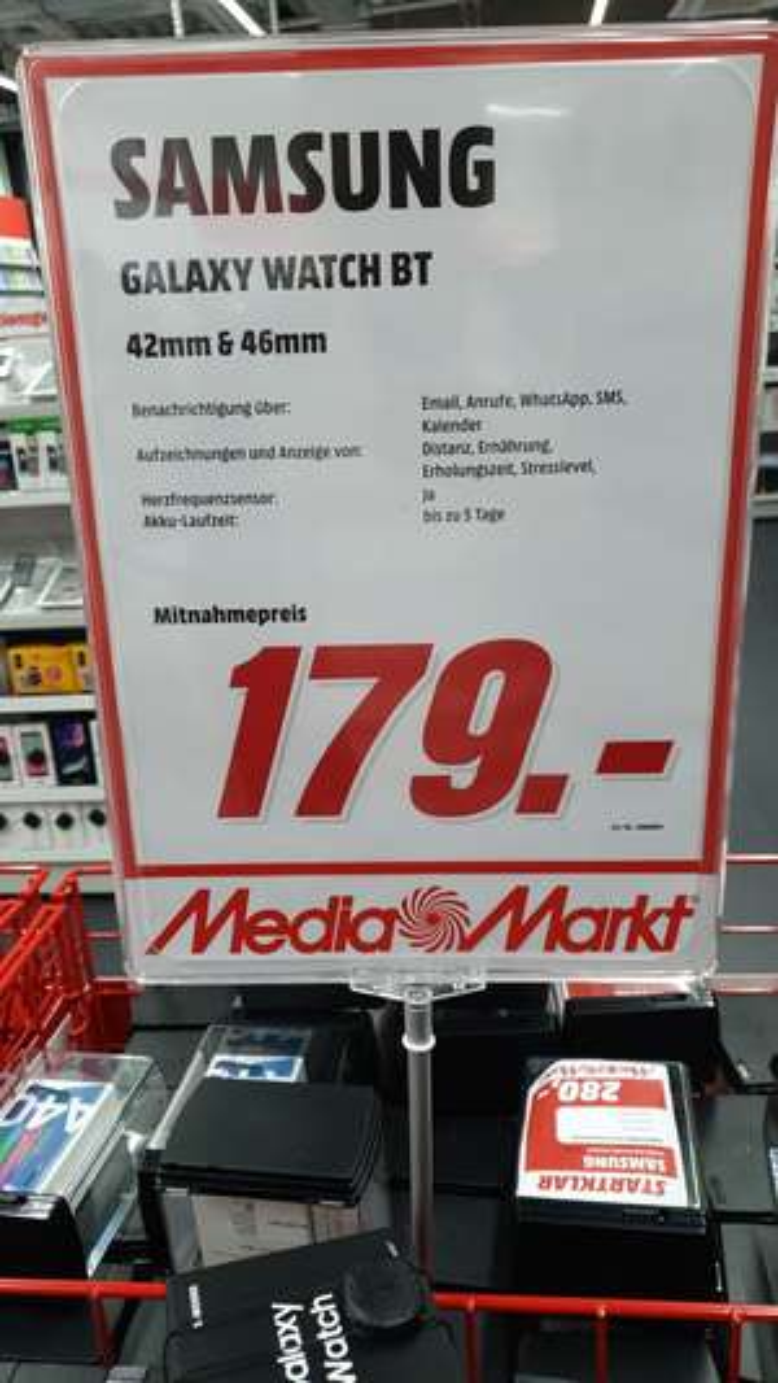 Samsung Galaxy Watch 42mm ODER 46mm [LOKAL Media Markt Papenburg, Emden, Leer]