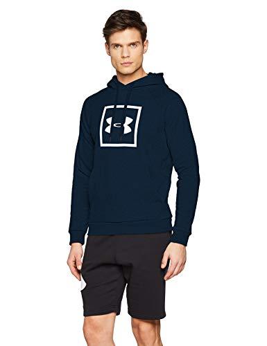 [AMAZON.de] Under Armour Herren Rival Fleece Box Logo Hoodie blau M/L/XL/XXL