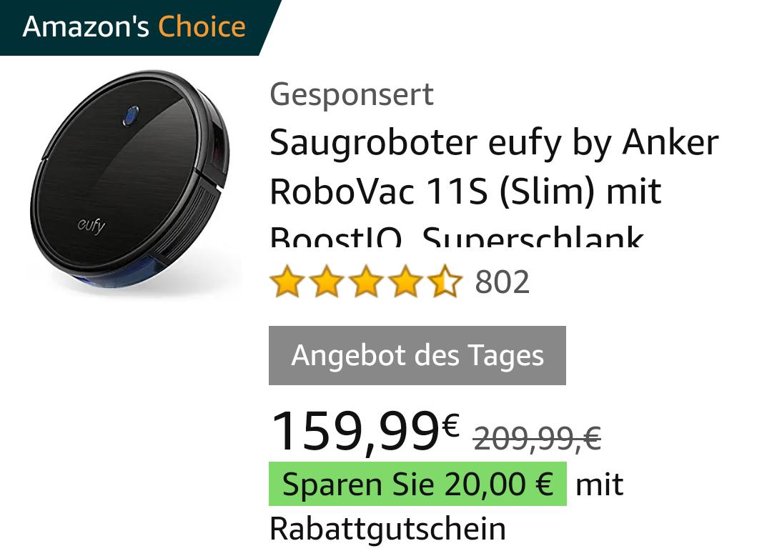 Eufy Anker RoboVac 11S