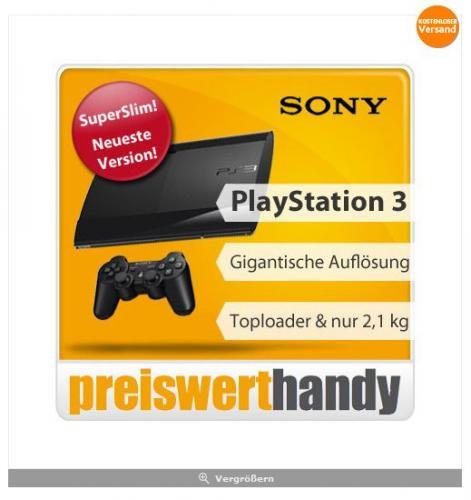[ebay WOW] PS 3 Super Slim 12GB black + Dualshock Controller ... 189€ ohne VSK