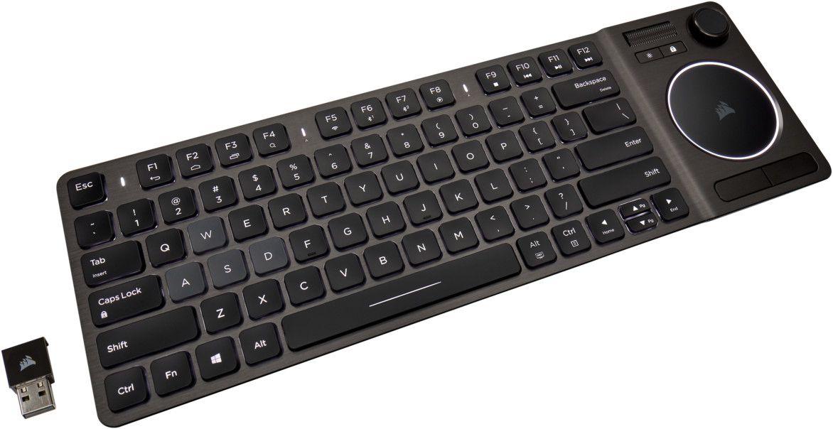 Corsair K83 Wohnzimmer Funk-/Bluetooth Tastatur für den HTPC