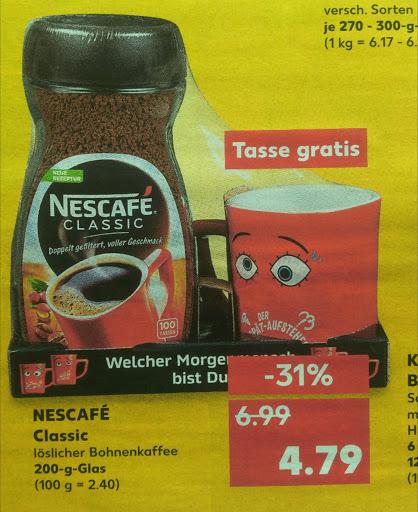 Nescafe Classic 200g +Kaffeetasse im Kaufland