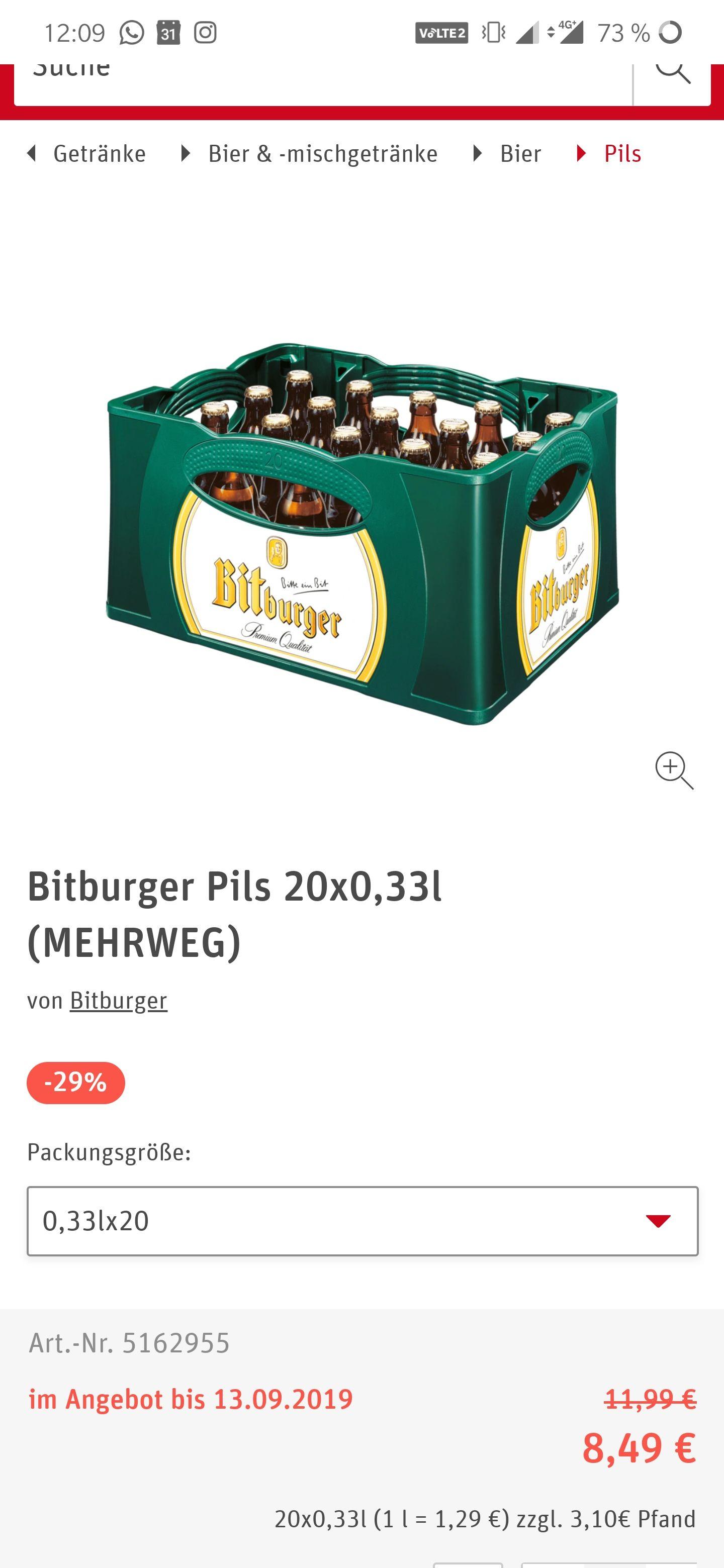 "[regional? /Baden-Württemberg] Bitburger Pils 0,33l ,,Stubbi"""