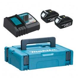 Makita 18V Power Source Kit klein, 2x 3,0 Ah, 1x DC18RC, 1x Macpac Gr.1