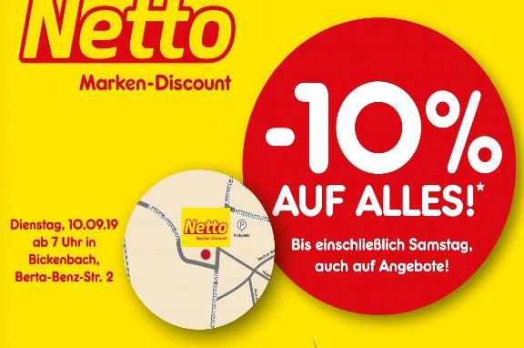 [Lokal] - Netto Bickenbach (64404) - 10% auf alles