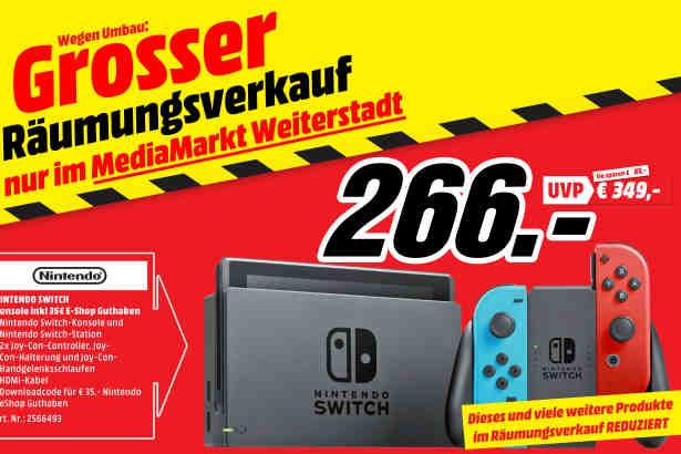 [Lokal: Media Markt Weiterstadt] Nintendo Switch + 35€ eShop Guthaben