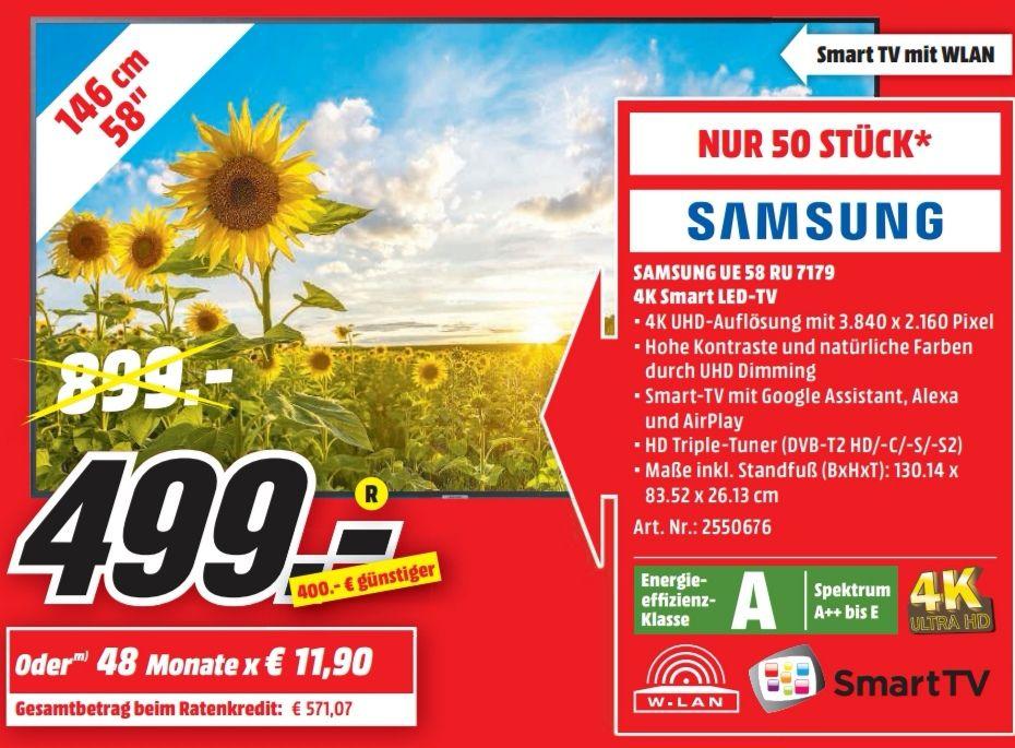 Samsung UE 58 RU 7179 - Media Markt in Pirmasens [Lokal]
