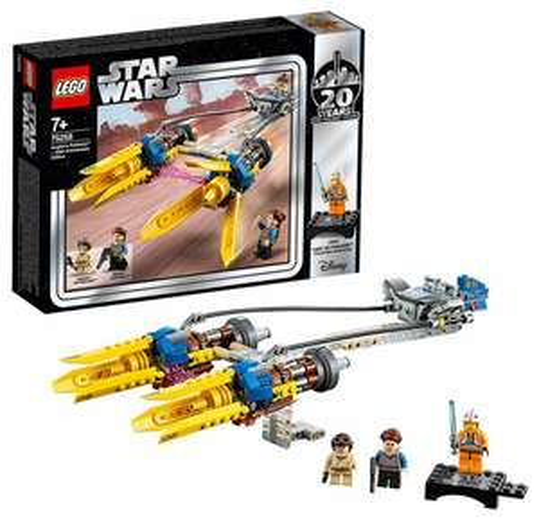 LEGOStarWars 75258 Die dunkle Bedrohung Anakin's Podracer- 20Jahre LEGOStarWars, Bauset [Prime]
