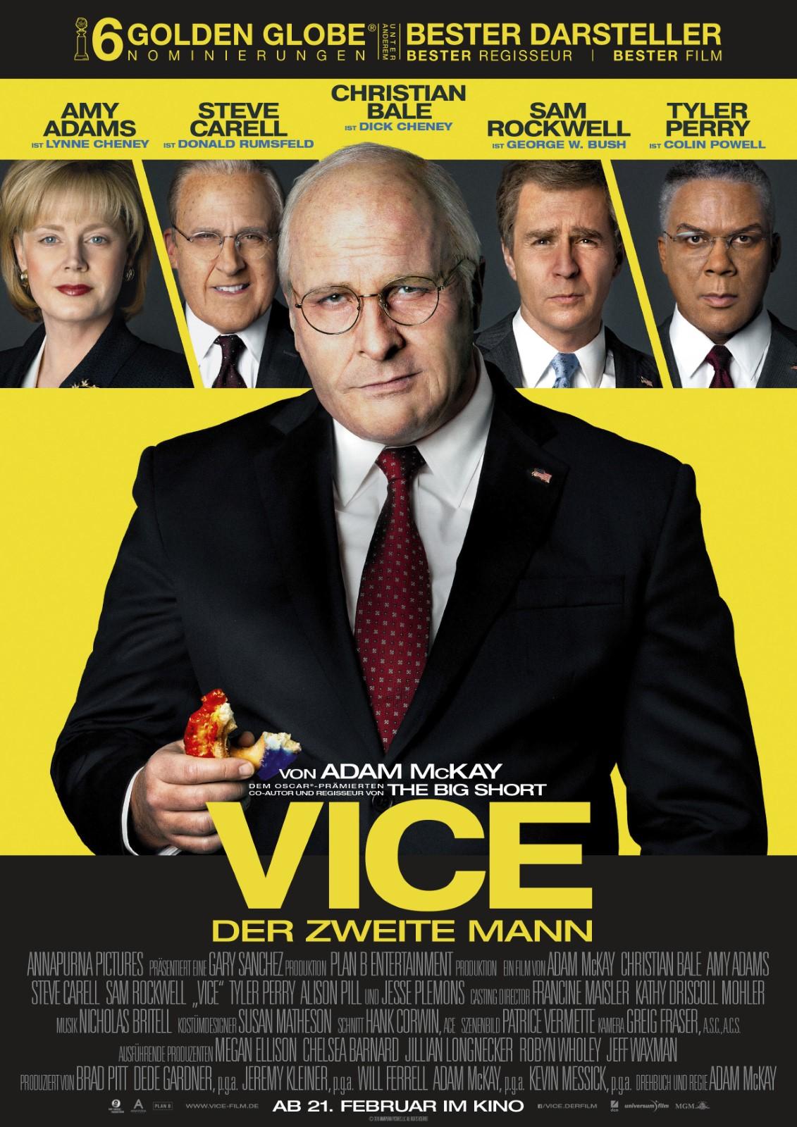 12 HD Filme für je 0,99€ leihen - u.a.  Vice - Der Zweite Mann, Drachenzähmen Leicht Gemacht 3 [Prime]