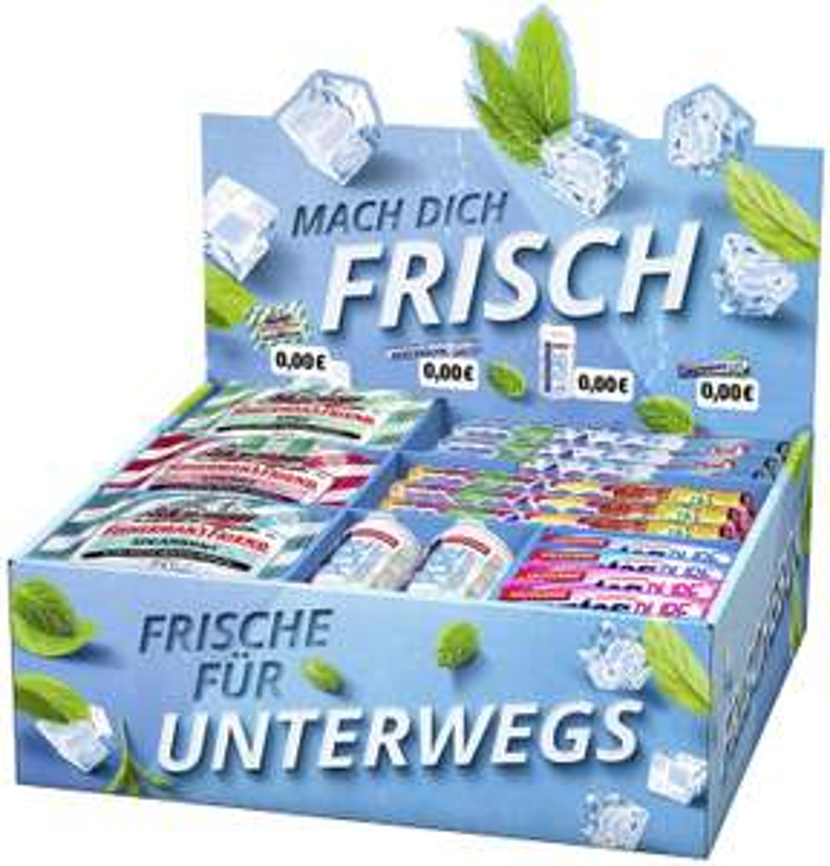 [Lokal: Wolfsburg] Mentos Mix-Karton inkl. Fisherman's Friends, Kaugummis + Kaubonbons + Pastillen, 2,36 kg Markenware