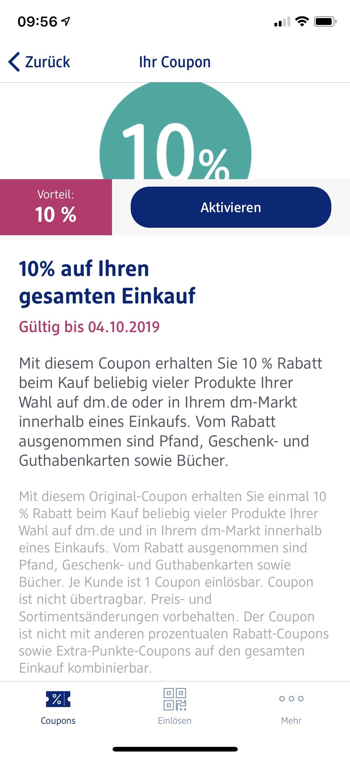 [DM] 10% Gutschein - On und Offline - Glückskind