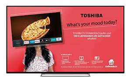 "Toshiba 55"" UHD TV + 100 € Lieferando-Gutschein"