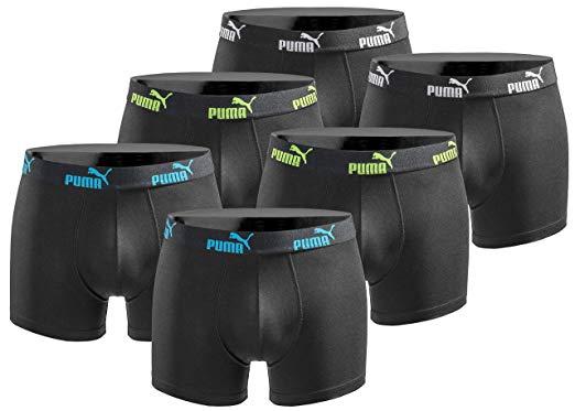 Puma Boxerhorts 6er Pack Herren Basic Black Limited Edition