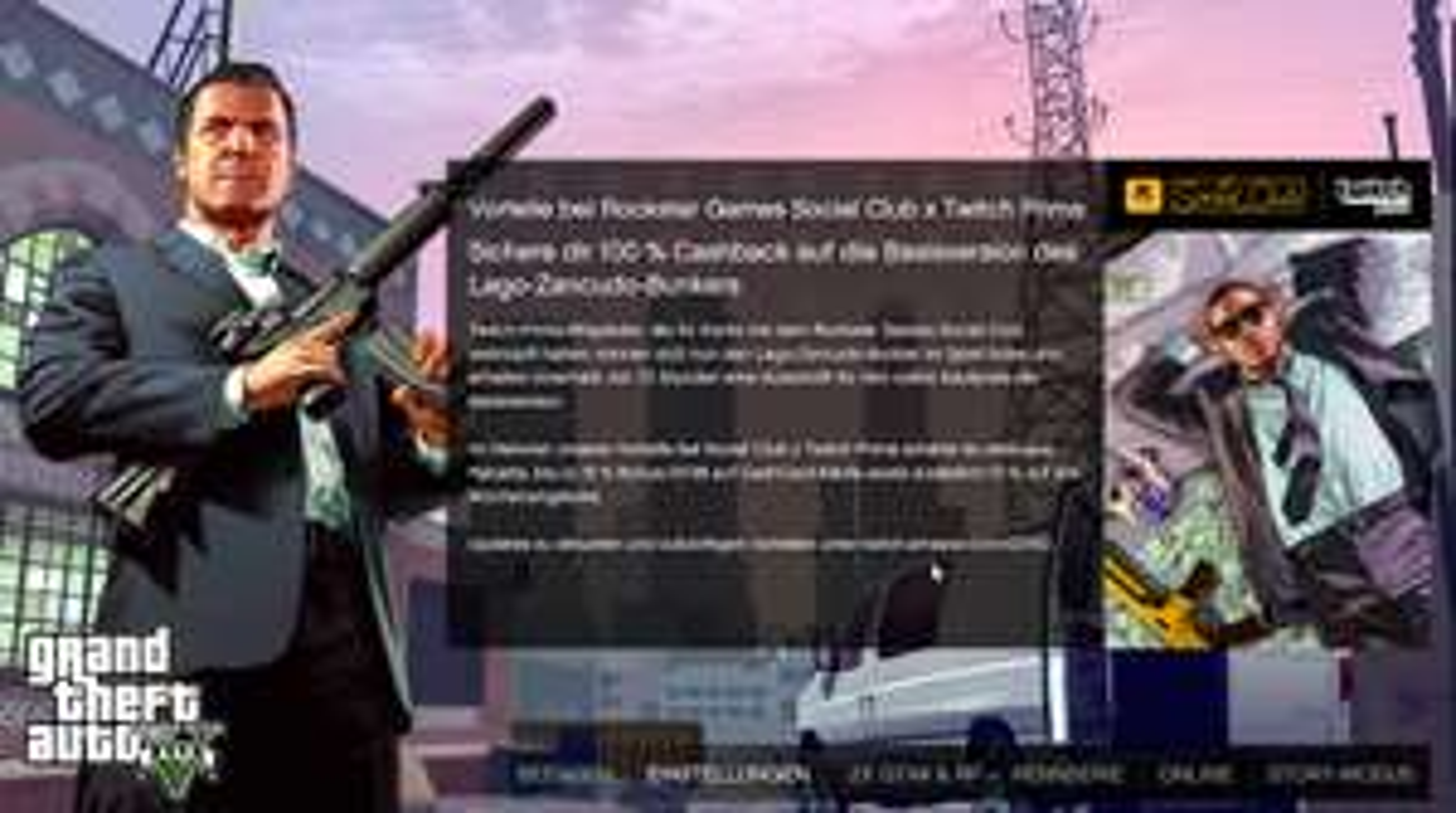 [Twitch Prime] GTA V Online Lago-Zancudo-Bunker + Hangar Rückerstattung des gesamten Kaufpreises! (1,55 Mio GTA$ + 2,65 Mio GTA$)